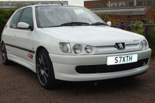Peugeot 306 Rallye 167 bhp standard, added with a supercharger for 260 bhp